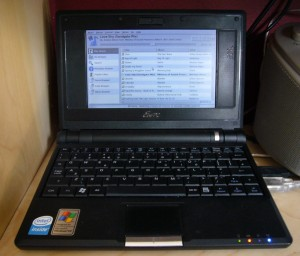 EeePC with Gnome Music Player