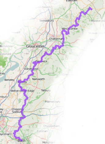 Map of the Cotswold Way