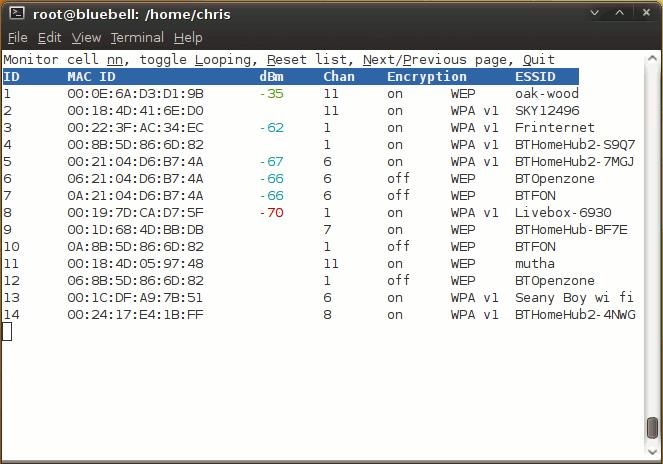 netstumbler linux